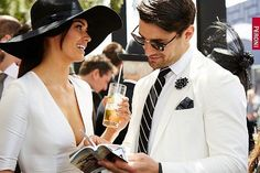 Derby Day at the Spring Racing Carnival is one of the most coveted days with the largest showcase of men's style on the turf. Kentucky Derby Outfit, Kentucky Derby Fashion, Derby Attire, Derby Outfits, Horse Race Outfit, Saratoga Horse Racing, Derby Day Fashion, Melbourne Cup Fashion, Spring Racing Carnival