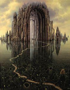 Jacek Yerka- 'The Cathedral'