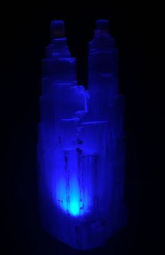 Two tower selenite lamps | Items for Sale | Pinterest | Tower