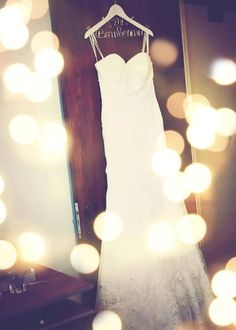 Lovely wedding gown hanger