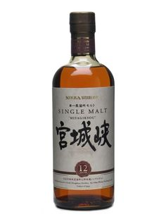 Nikka Miyagikyo 12 Year Old 70cl / 45% £70 Japanese Single Malt Whisky Full-bodied, fruity and complex, with some sherry character, hints of toffee and some polished malt. Deservedly popular. World Whiskies Awards 2012 - Best Japanese Single Malt 12 years and under