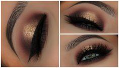 Gold & Black Halo Smokey Eyes | Amys Makeup Box