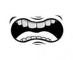 Mouth Cartoon, Cartoon Faces, Cartoon Icons, Funny Mouth, Drawing Expressions, Halloween Face Mask, Masks Art, Cartoon Design, Beautiful Birds