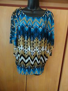 NEW INC Tank & Top Size Large Scoop Neckline Butterfly Sleeves