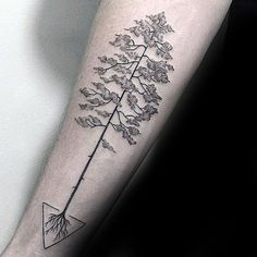 Creative Tree Roots Inner Forearm Tattoo On Gentleman