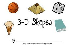 3D Shapes Printable Book