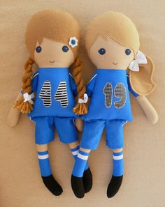 Reserved for Gina   Fabric Dolls Rag Dolls Sister by rovingovine