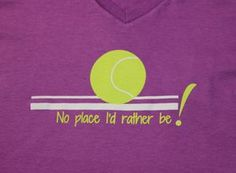 Thanks to our friends at #Tennis #Identity for sharing a close up of our No-place-I'd -rather-be! V neck T-shirt as part of their 'Editor's Holiday Tennis Gifts/Karin's Picks.' Find more here! http://www.wristpectsport.com/collections/womens-v-neck/products/no-place-id-rather-be
