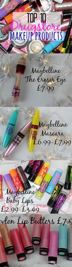 Top 10 Drugstore Makeup Products you must own! http://pinkparadisebeauty.blogspot.co.uk/2015/03/top-10-drugstore-makeup-products.html