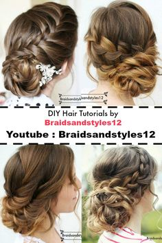 Pretty Updo / Upstyle Hairstyle Idea by Braidsandstyles12. These Updo Hairstyle ideas would be perfect for a Prom Hairstyle, Bridal Hairstyle, Party hairstyle idea etc. On my Youtube Channel ( Braidsandstyles12) you can find braided updo hairstyles, curly Updo Hairstyles, twisted Updo hairstyles along with braid tutorials.
