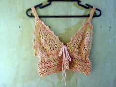 Here's another bralette. By now, you should see how simple these constructions are. It is up to you to find patterns to mix and match, and develop and practice your improvisation and free-form skills to bring everything together into a beautiful and useful piece.