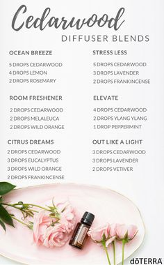 Cedarwood Diffuser Blends