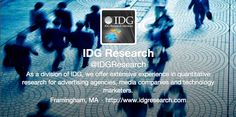 Follow @IDGResearch on Twitter for the latest research in media, advertising, #tech and #marketing https://twitter.com/IDGResearch
