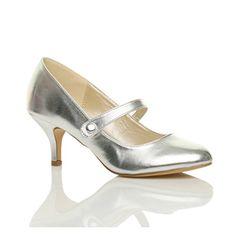 Damen Hoher Absatz Mary Jane Formal Abend Party Ball Pumps Schuhe Größe 7 40 - http://on-line-kaufen.de/ajvani/40-eu-7-uk-damen-hoher-absatz-mary-jane-formal-abend-29