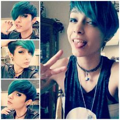 scene pixie cut tumblr - Google Search<<<< I love this so much!!