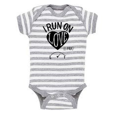 I Run On Love (& Milk) Baby Onesie