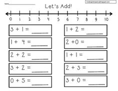 Working on Addition Strategies?%0A%0AHere is a freebie using a number line.%0A%0ATen different worksheets to use.