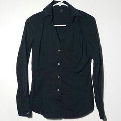 Express Black Shirt Simple black button-up Express Tops