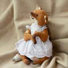 Купить Лисичка Ашим - рыжий, белый, лиса, лисичка, лисица, авторская игрушка, коллекционная игрушка