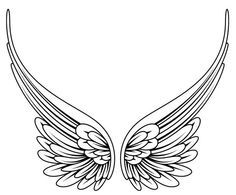 simple angel wings tattoo - Google Search