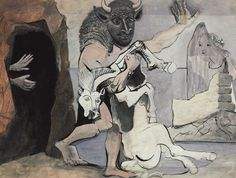 """tri-ciclo: Pablo Picasso, """"Minotaur in the Labyrinth"""""""