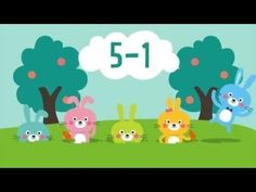 Five Little Bunnies ~ Subtraction within Five. I think my kids will love this! (Free.) Cute math video to get students engaged or for math journals.