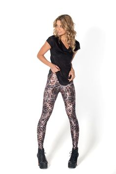 Pinecone Leggings - LIMITED by Black Milk Clothing