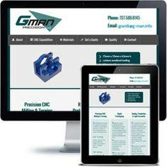 GMAN Precision Company website built with PHP/HTML, JQuery using responsive web design.