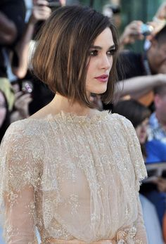 Love this cut! Keira Knightley's 10 Best Red Carpet Looks | OurVanity.com. Hot Beauty News & Tips