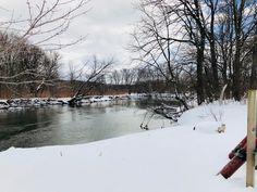 Housatonic River in Sheffield, Massachusetts. Paul Chandler March 2018.