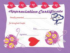 True Love Certificate of Appreciation Template