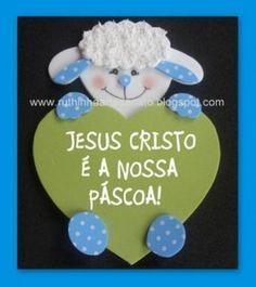 Eu Amo O Ministério Infantil: Ideias de Lembrancinhas para a PÁSCOA! Bible Crafts For Kids, Christian Crafts, Sunday School Crafts, Kids Church, Animal Crafts, Balloon Decorations, Easter Crafts, Sheep, Diy And Crafts