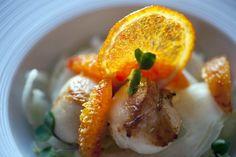 Capesante con insalata di finocchi e arance di Sicilia - Scallops with fennel salad and oranges from Sicily #antinoos #lounge #restaurant #hotelcenturionpalace #venice