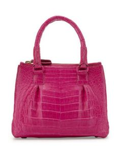 Nancy Gonzalez Open-Top Crocodile Satchel Bag