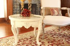 New House: Ornate Side Table in ASCP Old Ochre