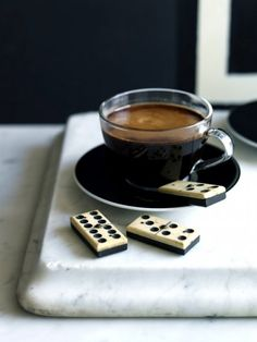 coffee and dominoes