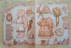 Victorian Teddy Bear Family Mama Violet Arbuthnot Paper Doll 1987 Mag PD   eBay