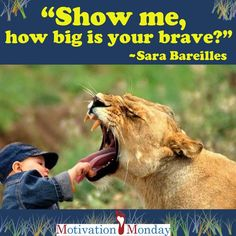 MOTIVATION MONDAY: Be willing to take that scary first step, defy the odds, and shock the world! Do what you want, do what makes you happy, do something amazing!!! Never let fear stop you because you are about to do something that will change your life!  We love Sara Bareilles' music! Heelyoursole.org