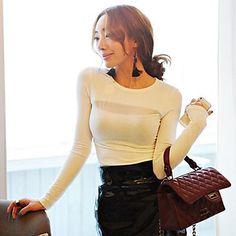 femei plasă sexy despicare mânecă lungă tricou – USD $ 10.79