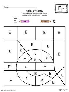 uppercase letter a color by letter worksheet letter worksheets and worksheets. Black Bedroom Furniture Sets. Home Design Ideas