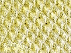 Knit & Purl Stitch Combinaltions. Right Diagonal Rib Stitch