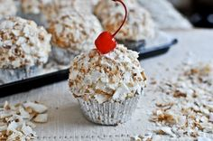 Coconut Tres Leches Cupcakes recipe by How Sweet It Is