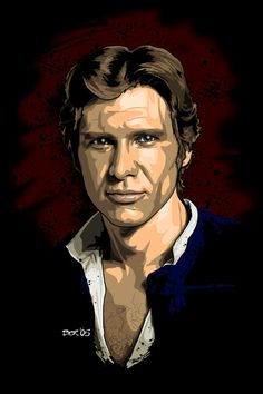 Han Solo from Star Wars A New Hope by Odessy Art