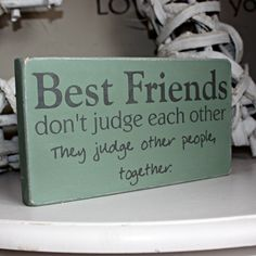 Handmade Wooden Best Friends Sign | Gifts For Her | Gifts | Swanky Maison