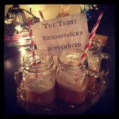 Harry potter party idea butterbeer