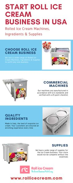 At Roll Ice Cream LLC carries a wide range of Rolled Ice Cream Machines, Ingredients & Supplies to outfit any size business. Roll Ice Cream LLC aims to be an asset in your business development. We ensure each rolled ice cream machine is manufactured with the highest quality and then doubly verified with our 25-point checklist. We offer 24 hours chat and video support along with training, financing and advisory to ensure your business has the advantage. Cool Numbers, Ice Cream Business, Ice Cream Ingredients, Catering, Rolls, Training, Range, Outfit, Outfits