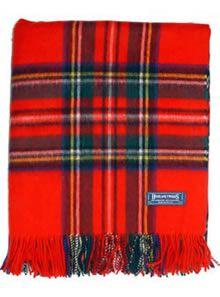 Lambswool Tartan Blanket Royal Stewart