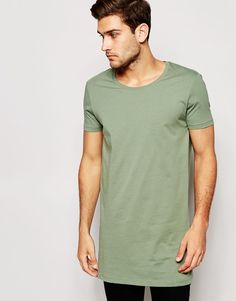 ASOS Super Longline T-Shirt With Scoop Neck - Nice Color
