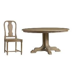 Linden Fixed Pedestal Table & 4 Mabry Chairs