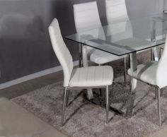 Dukas White Faux Leather Dining Chair – UK delivery £48.95 ea